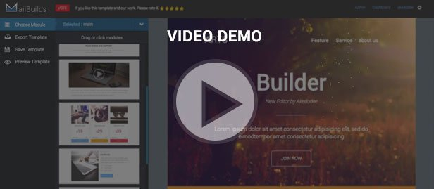 video demo template builder